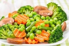 Ångade grönsaker Arkivbilder