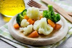 ångade grönsaker arkivbild