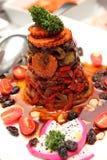 Ångade grönsaker för blandad sallad med sås Royaltyfria Bilder