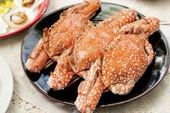 Ångade krabbor Arkivfoto