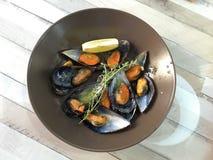 ångade musslor Royaltyfri Fotografi