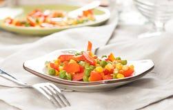 Ångade organiska grönsaker Royaltyfria Bilder