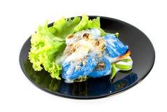 Ångade ris-hud klimpar med sås Royaltyfria Foton