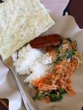 Ångade ris och Pecel Arkivfoton