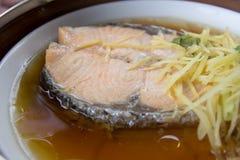 Ångade Salmon Fish Fotografering för Bildbyråer