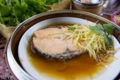 Ångade Salmon Fish Royaltyfri Foto