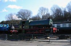 Ångadrevlokomotivet kallade det Mardy monstret Royaltyfria Foton