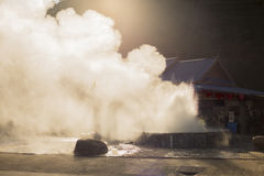 Ångageyser Royaltyfri Bild