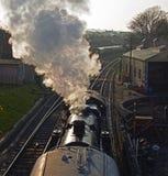 Ångajärnväg på Swanage i Dorset Royaltyfria Foton