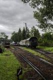 Ångalokomotiv, järnväg Fotografering för Bildbyråer