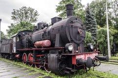 Ångalokomotiv, järnväg Royaltyfri Bild