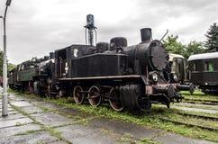 Ångalokomotiv, järnväg Royaltyfri Fotografi
