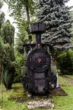 Ångalokomotiv, järnväg Arkivfoto