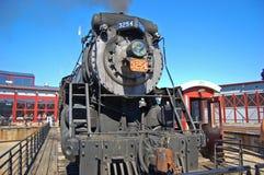 Ångalokomotiv kanadensiska nationella 3254, Scranton, PA, USA fotografering för bildbyråer