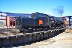 Ångalokomotiv kanadensiska nationella 3254, Scranton, PA, USA royaltyfri foto