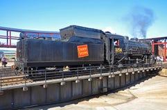 Ångalokomotiv kanadensiska nationella 3254, Scranton, PA, USA royaltyfri fotografi