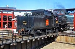 Ångalokomotiv kanadensiska nationella 3254, Scranton, PA, USA arkivbilder