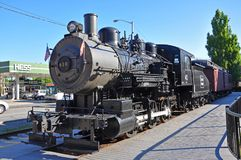 Ångalokomotiv, Lowell, Massachusetts, USA royaltyfria bilder