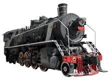Ångalokomotivet rullar närbild arkivfoton