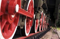 Ångalokomotivhjul Royaltyfri Bild