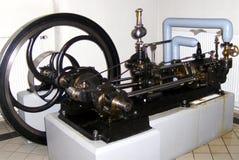 Ångamotor i det tekniska museet i Munchen (Technische Muzeum Munchen) Arkivfoto