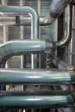 Ångarören på den termiska kraftverket fotografering för bildbyråer