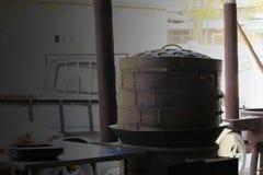 Ångare träsfäriska bygga bo lager royaltyfri bild