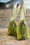 Ångat mjöl med kokosnötfyllning Arkivbild