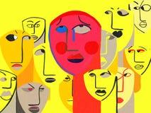 Ångestoordning för social fobi som ÄR LEDSEN royaltyfri illustrationer