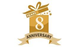 8 år årsdag för band för gåvaask Arkivbild