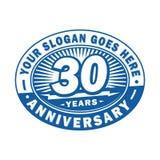 30 år årsdagberöm 30th årsdaglogodesign Trettio år logo vektor illustrationer