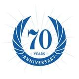70 år årsdagdesignmall Elegant årsdaglogodesign Sjuttio år logo royaltyfri illustrationer
