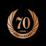 70 år årsdagdesignmall Elegant årsdaglogodesign Sjuttio år logo vektor illustrationer