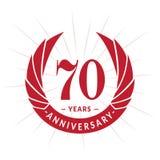 70 år årsdagdesignmall Elegant årsdaglogodesign Sjuttio år logo stock illustrationer