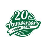 20 år årsdagdesignmall Vektor och illustration 20th logo vektor illustrationer