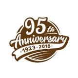 95 år årsdagdesignmall Vektor och illustration 95th logo vektor illustrationer