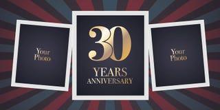30 år årsdagvektorsymbol, logo Royaltyfria Foton