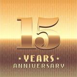 15 år årsdagvektorsymbol, symbol Royaltyfri Bild