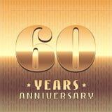 60 år årsdagvektorsymbol, symbol Royaltyfri Bild