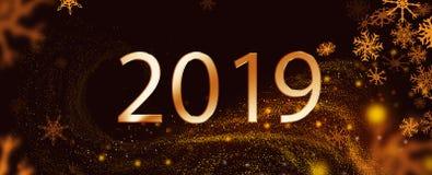 2018 år över svart bakgrund med sparckles royaltyfri foto