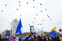 60 år av årsdagen för europeisk union, Bucharest, Rumänien Arkivfoto