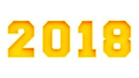År av 2018 Arkivbilder