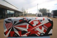 År av bussen Arkivbilder