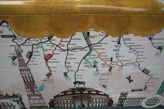 År av bussstatyn i London Arkivfoton