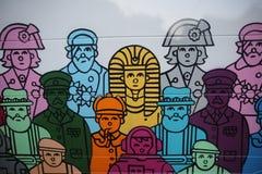 År av bussstatyn i London Royaltyfri Fotografi