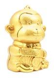 År av den guld- apan för apa Arkivbild