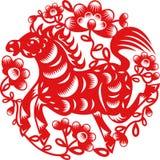 År av hästen royaltyfri illustrationer