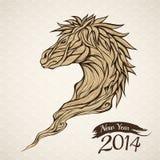 År av hästen vektor illustrationer
