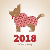 2018 år av hunden Royaltyfri Foto