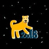 2018 år av hunden vektor illustrationer